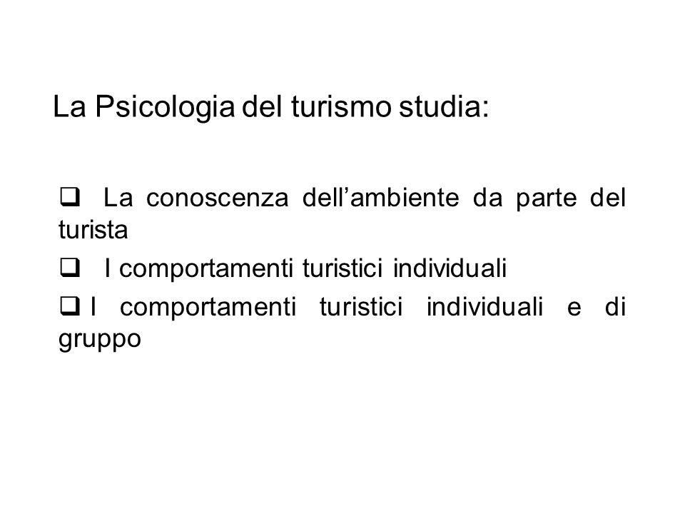 La Psicologia del turismo studia: