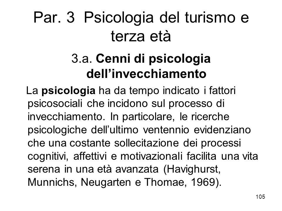 Par. 3 Psicologia del turismo e terza età