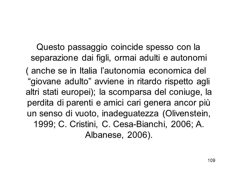Questo passaggio coincide spesso con la separazione dai figli, ormai adulti e autonomi