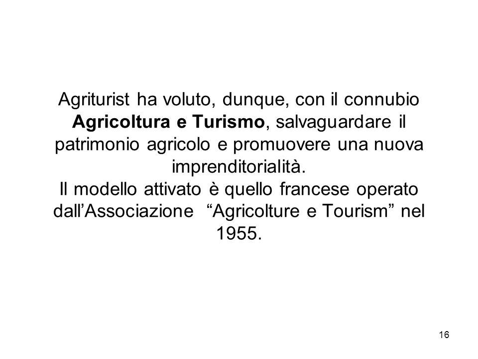 Agriturist ha voluto, dunque, con il connubio Agricoltura e Turismo, salvaguardare il patrimonio agricolo e promuovere una nuova imprenditorialità.