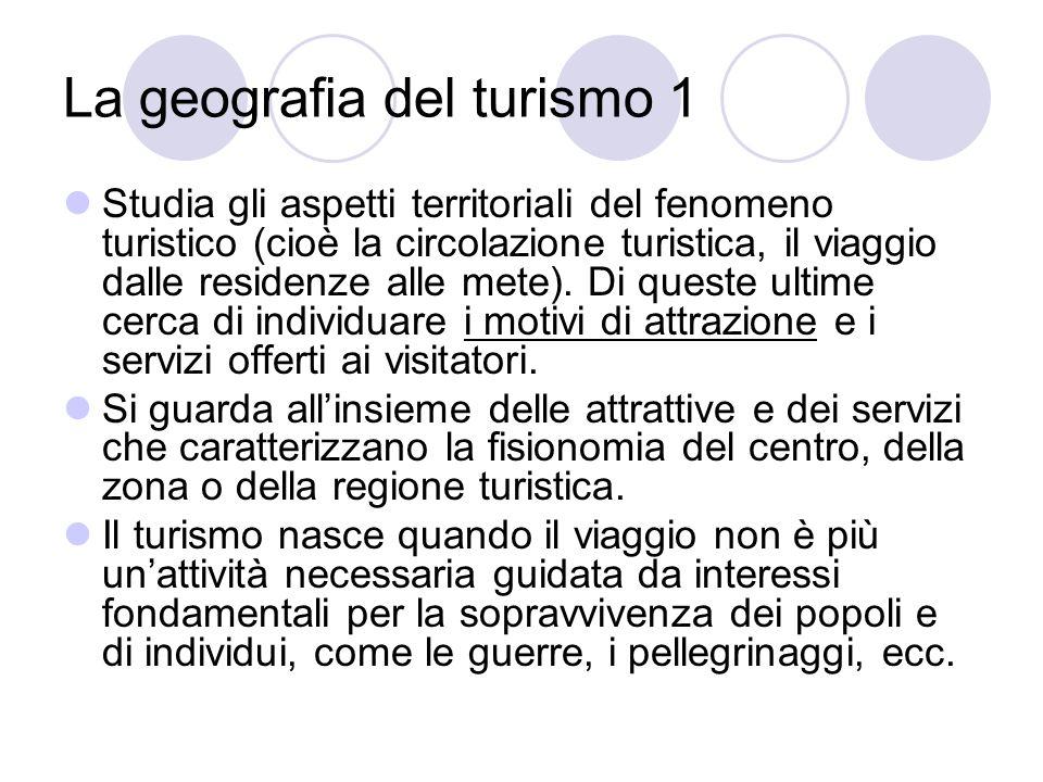 La geografia del turismo 1