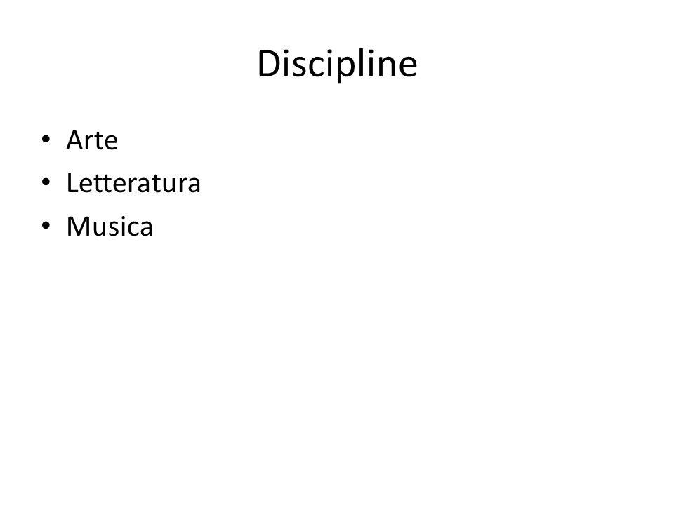 Discipline Arte Letteratura Musica