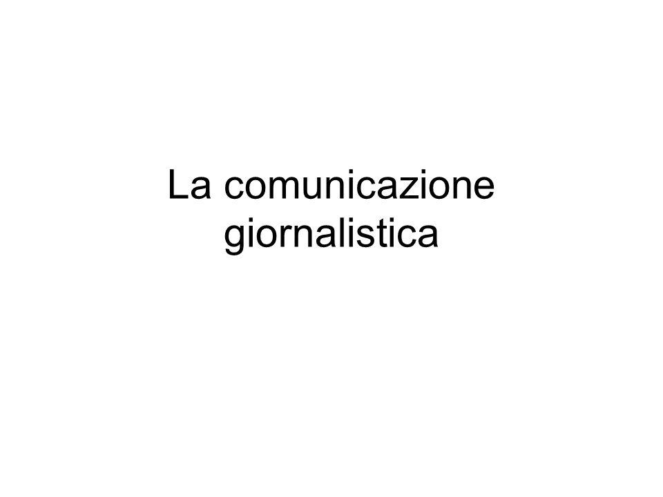 La comunicazione giornalistica