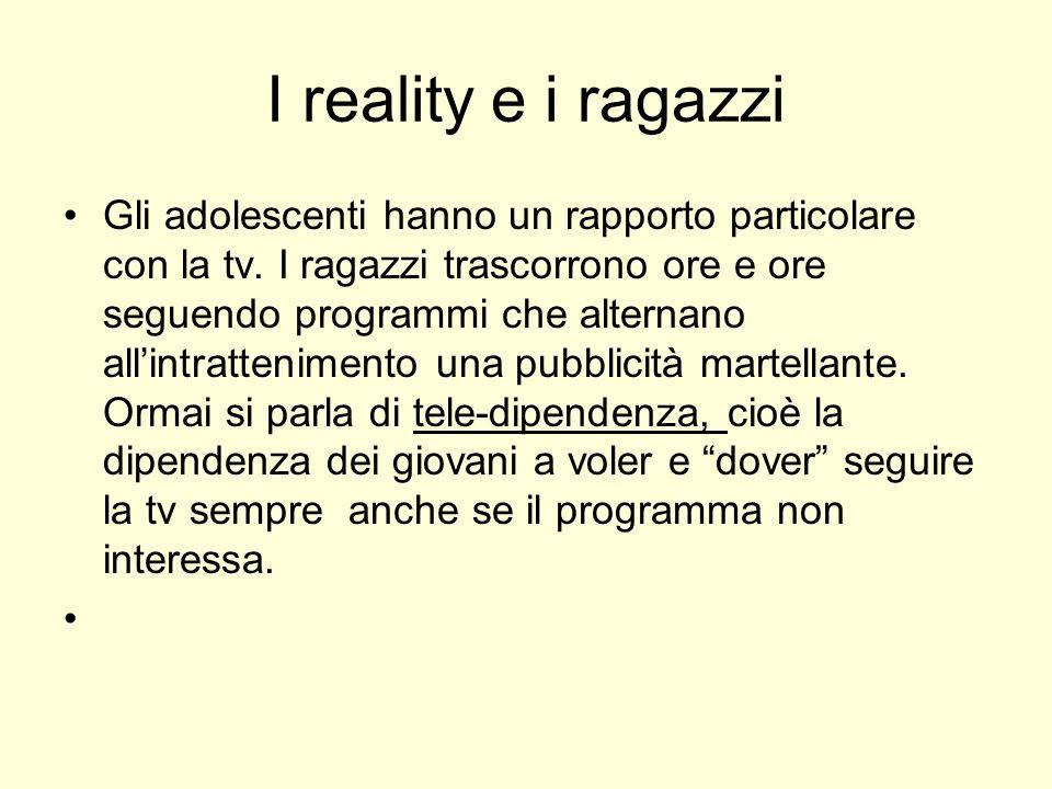 I reality e i ragazzi