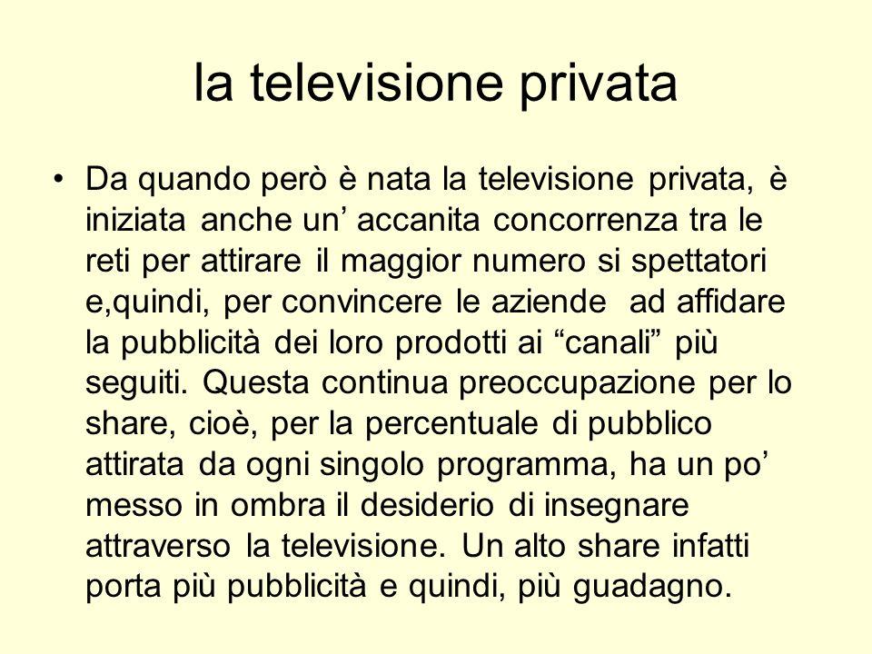 la televisione privata