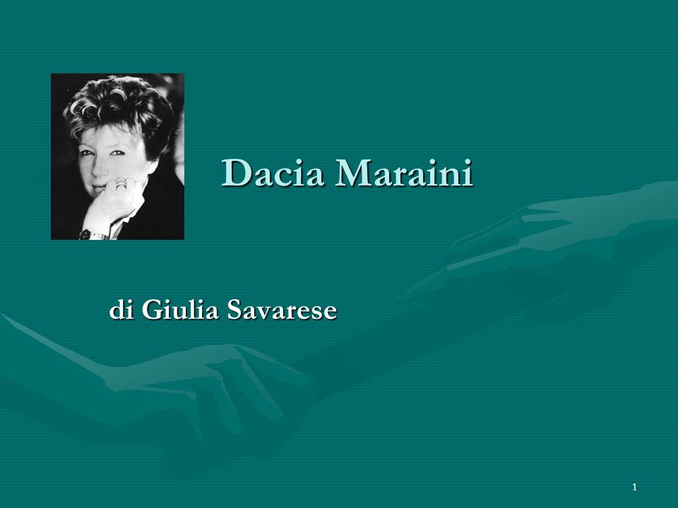 Dacia Maraini di Giulia Savarese