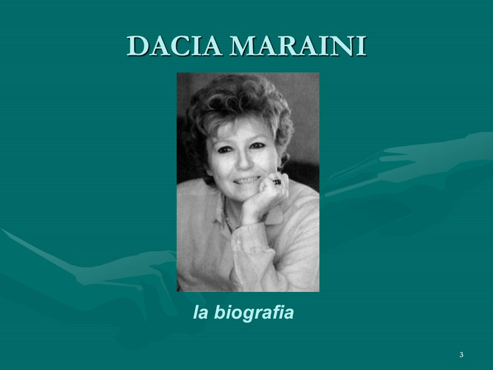 DACIA MARAINI la biografia