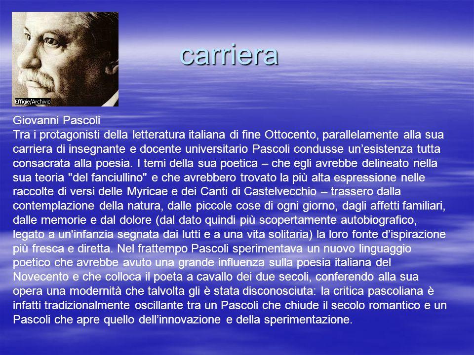 carriera Giovanni Pascoli