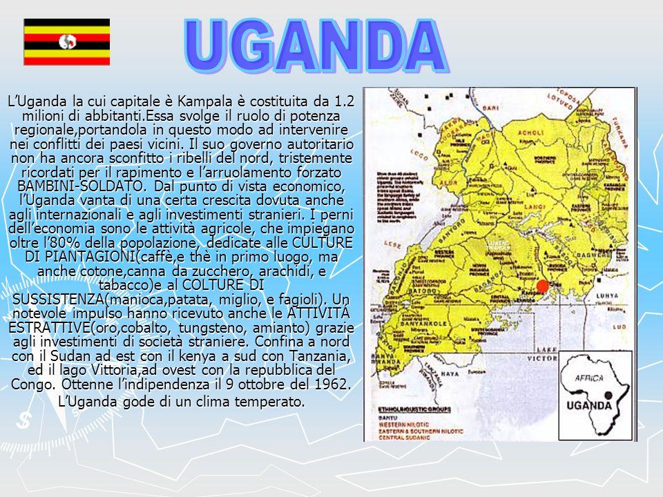L'Uganda gode di un clima temperato.