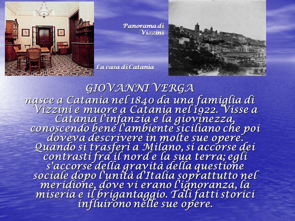 Panorama di Vizzini. La casa di Catania. GIOVANNI VERGA.