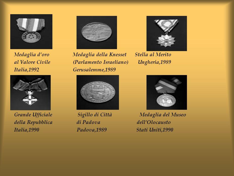 Medaglia d'oro Medaglia della Knesset Stella al Merito