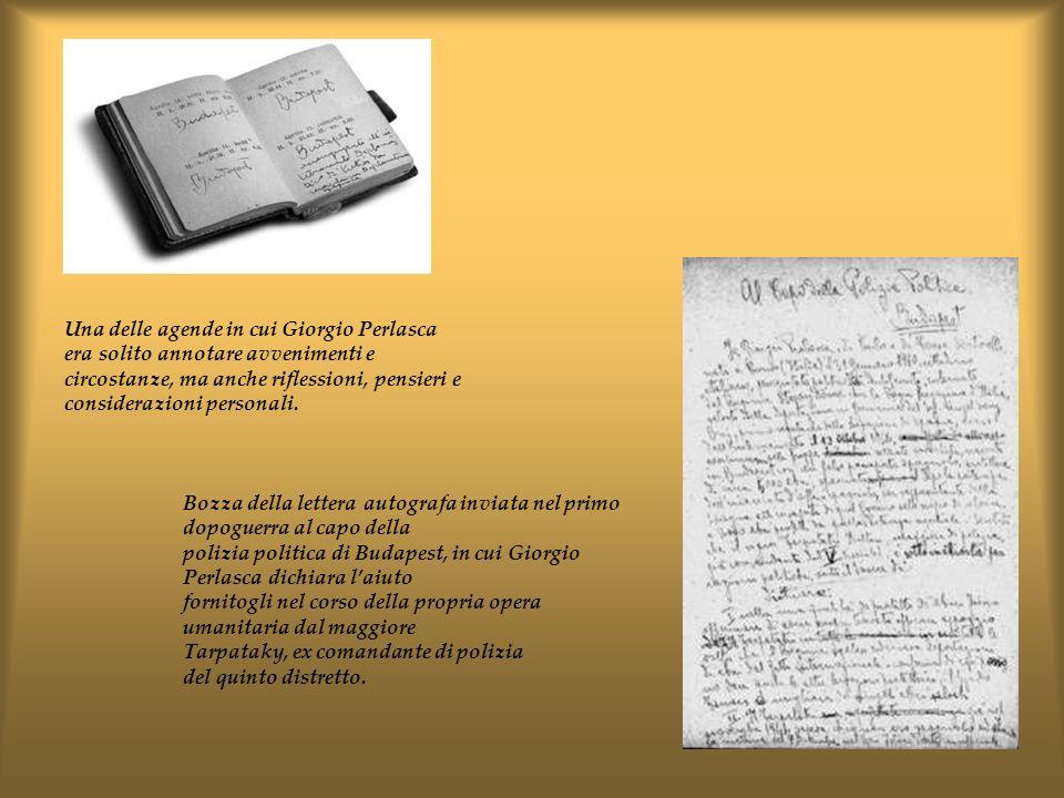Una delle agende in cui Giorgio Perlasca