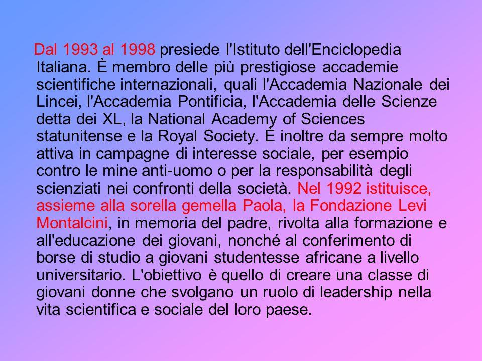 Dal 1993 al 1998 presiede l Istituto dell Enciclopedia Italiana