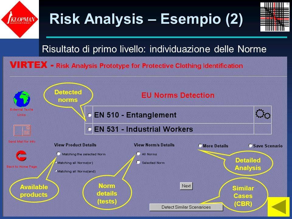 Risk Analysis – Esempio (2)