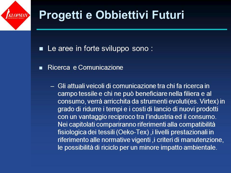 Progetti e Obbiettivi Futuri