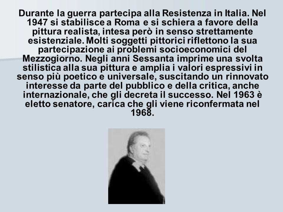 Durante la guerra partecipa alla Resistenza in Italia