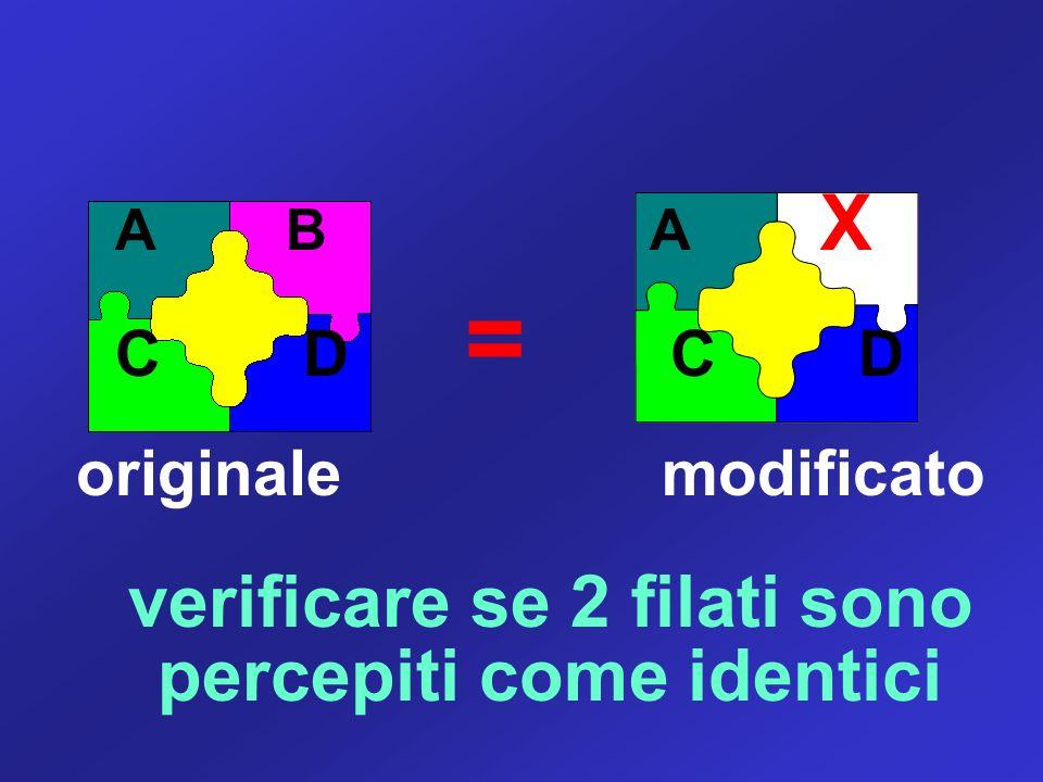 verificare se 2 filati sono percepiti come identici