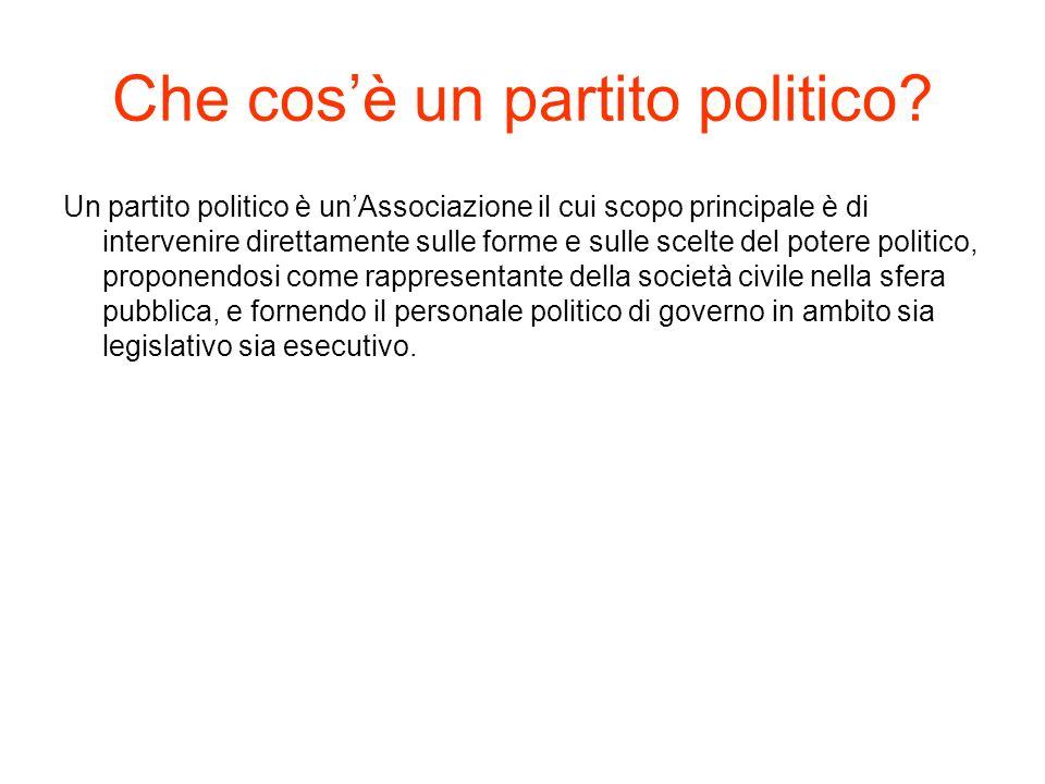 Che cos'è un partito politico