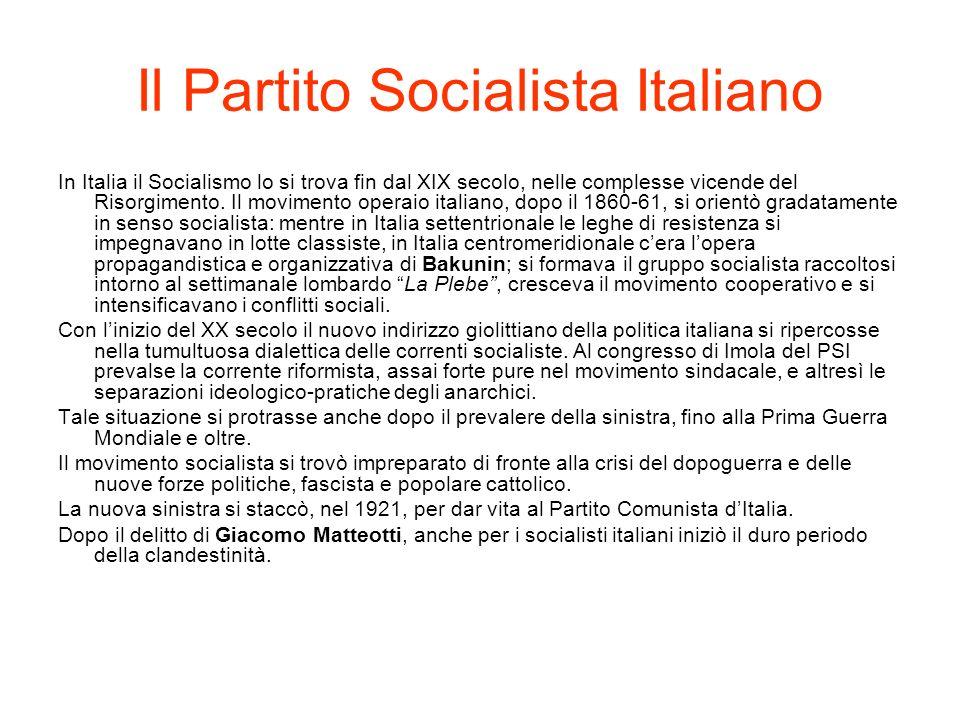 Il Partito Socialista Italiano