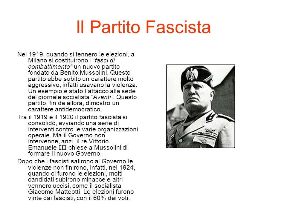 Il Partito Fascista
