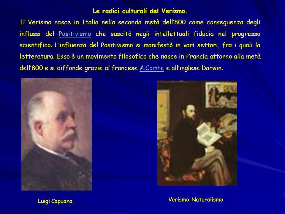 Le radici culturali del Verismo.
