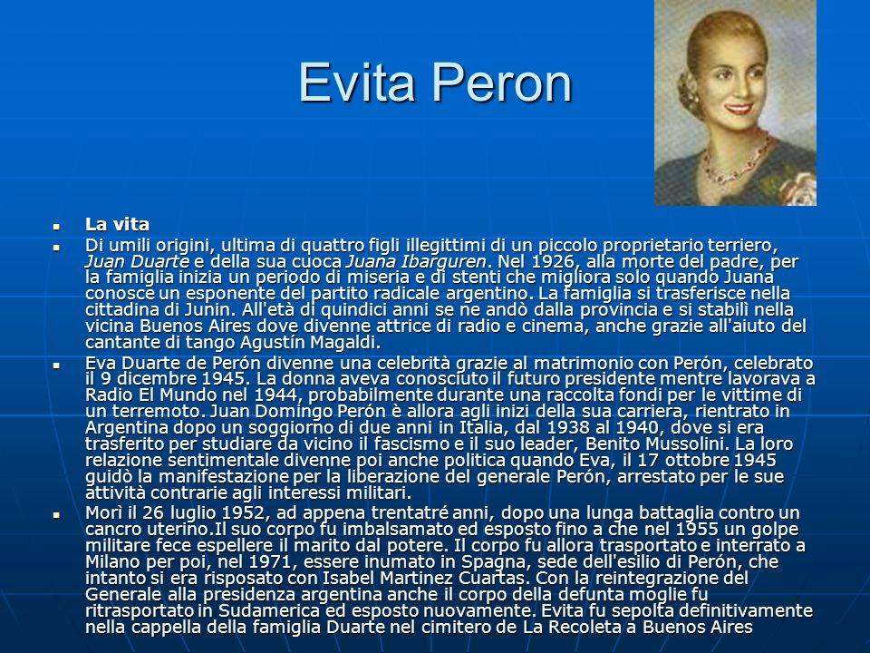 Evita Peron La vita.