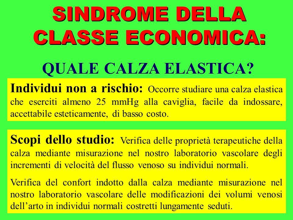 SINDROME DELLA CLASSE ECONOMICA: