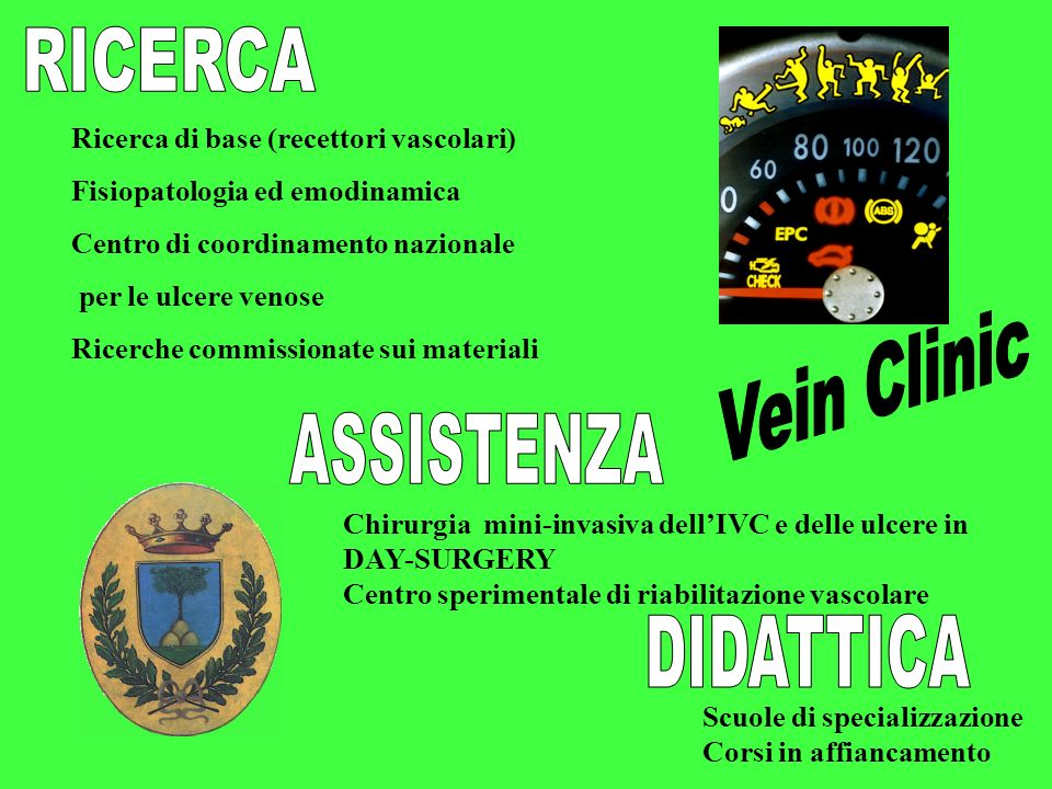 RICERCA Vein Clinic ASSISTENZA DIDATTICA