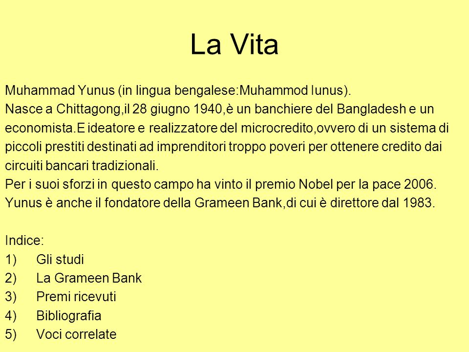 La Vita Muhammad Yunus (in lingua bengalese:Muhammod Iunus).