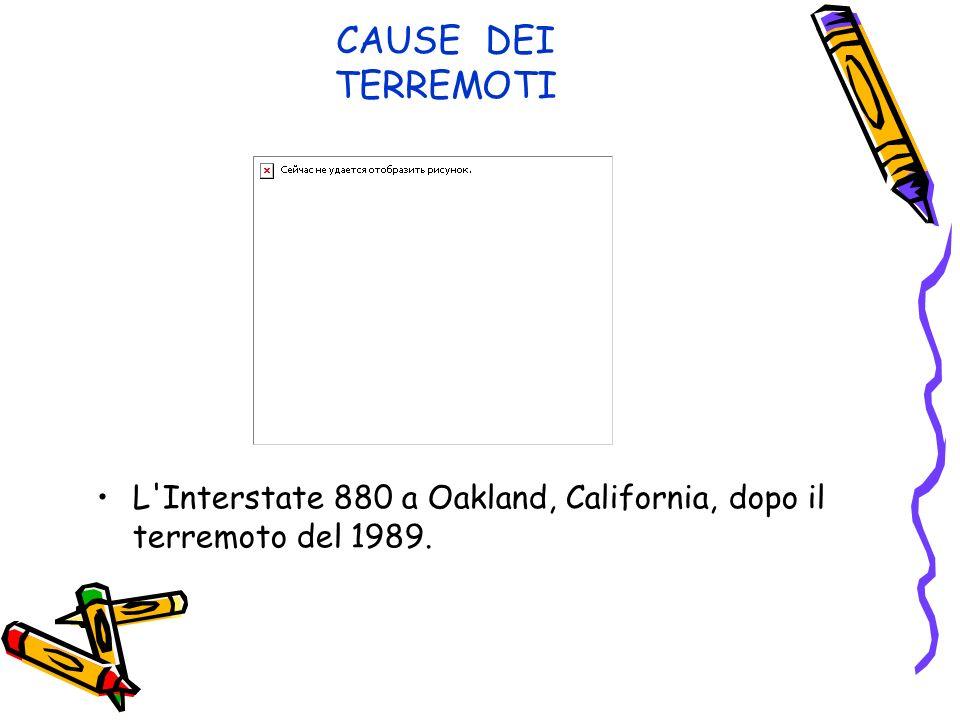 CAUSE DEI TERREMOTI L Interstate 880 a Oakland, California, dopo il terremoto del 1989.