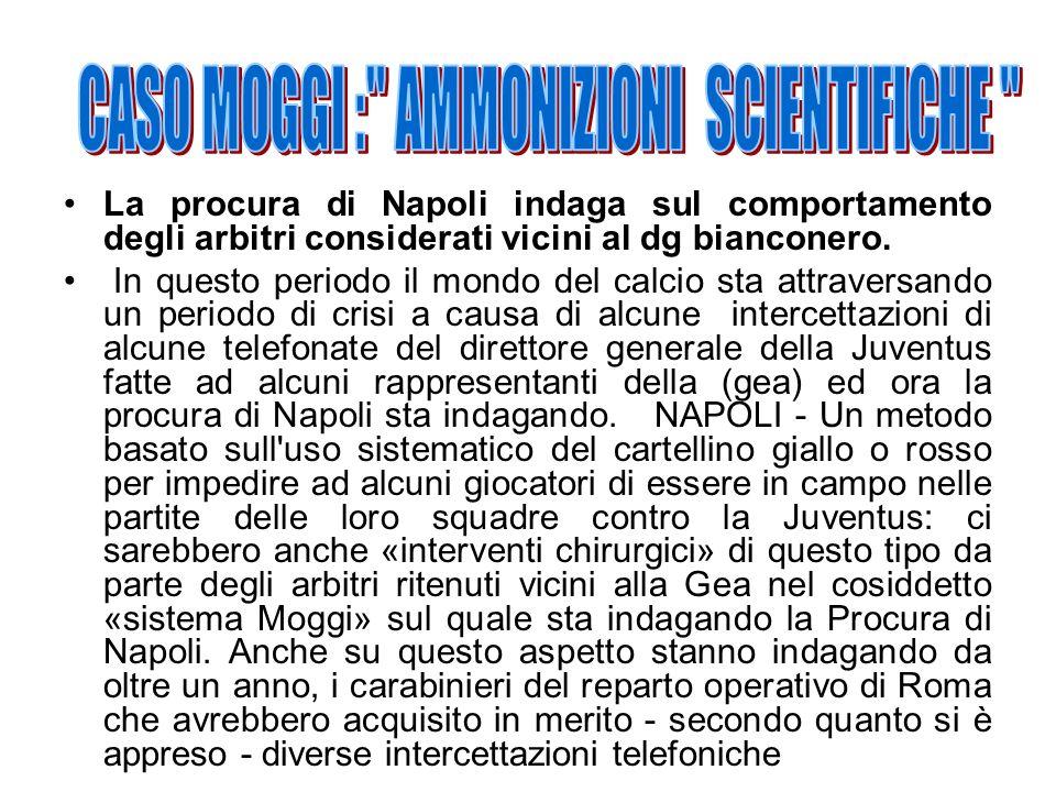 CASO MOGGI : AMMONIZIONI SCIENTIFICHE