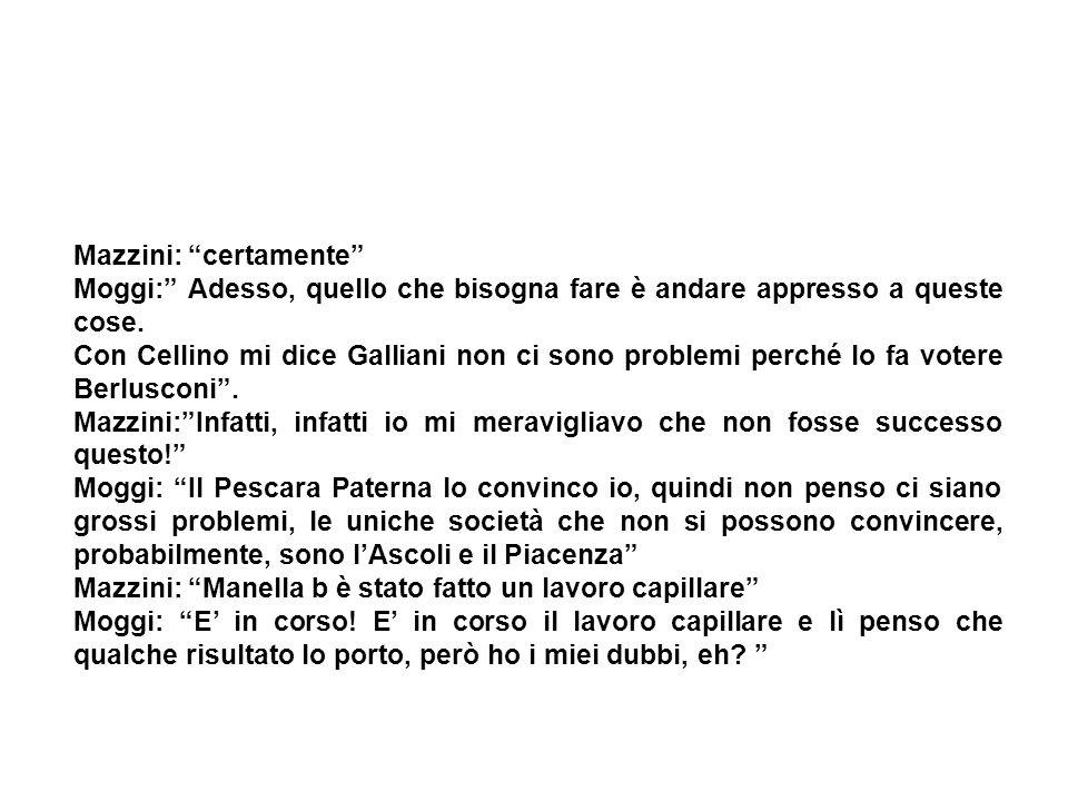 Mazzini: certamente