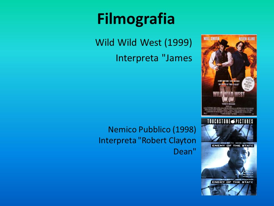 Filmografia Wild Wild West (1999) Interpreta James