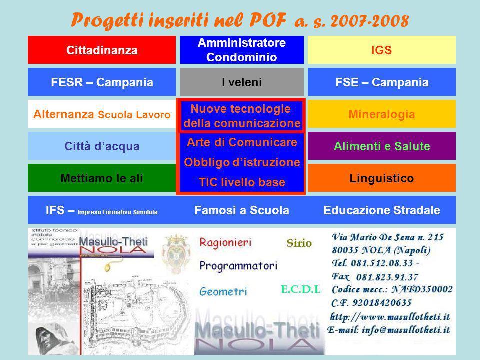 Progetti inseriti nel POF a. s. 2007-2008
