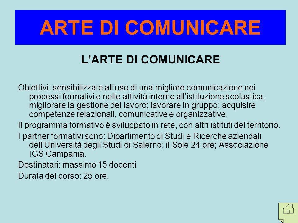 ARTE DI COMUNICARE L'ARTE DI COMUNICARE