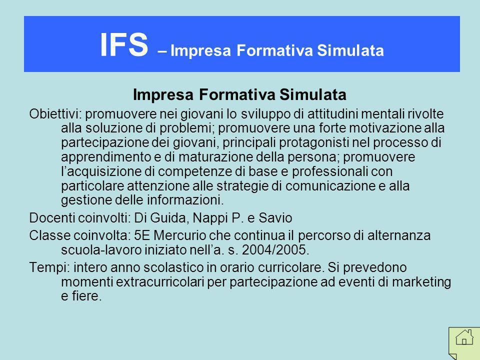 IFS – Impresa Formativa Simulata Impresa Formativa Simulata