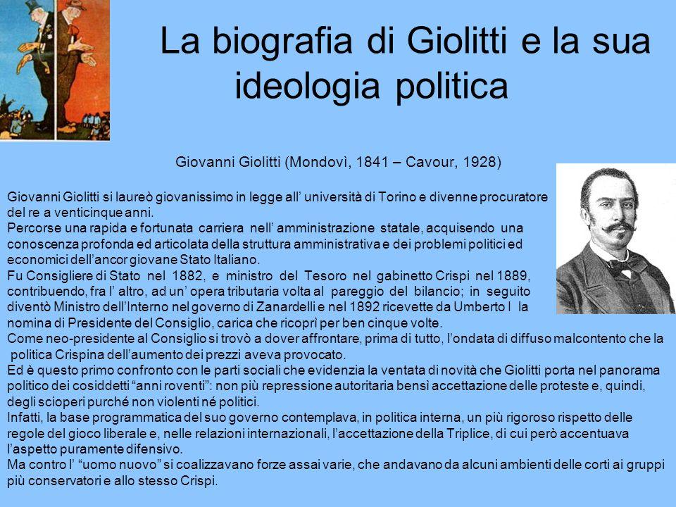 La biografia di Giolitti e la sua ideologia politica