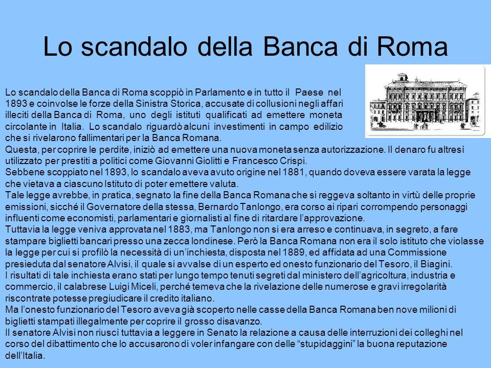 Lo scandalo della Banca di Roma