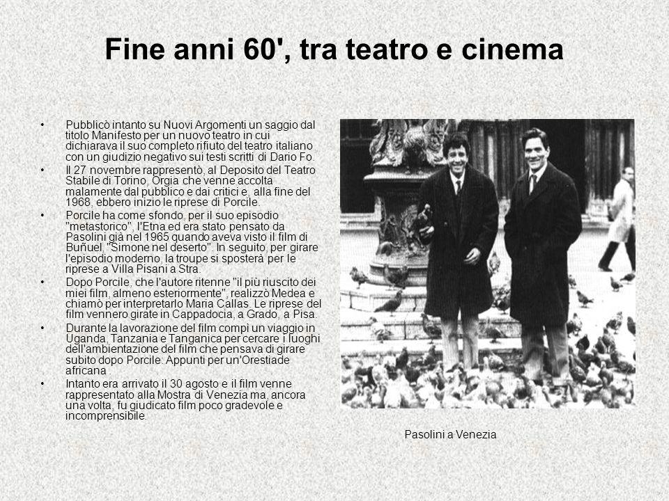 Fine anni 60 , tra teatro e cinema