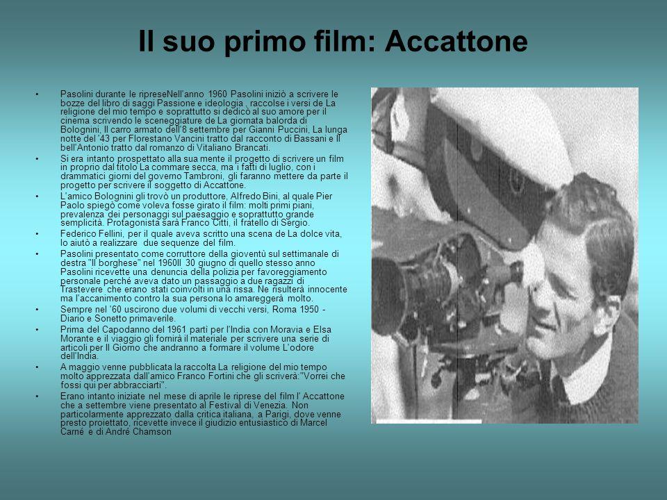Il suo primo film: Accattone