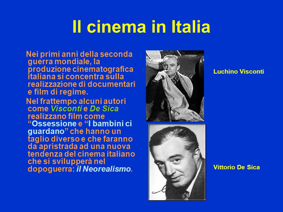 Il cinema in Italia