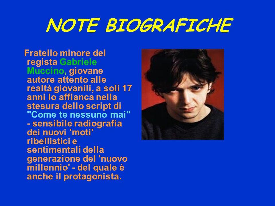 NOTE BIOGRAFICHE