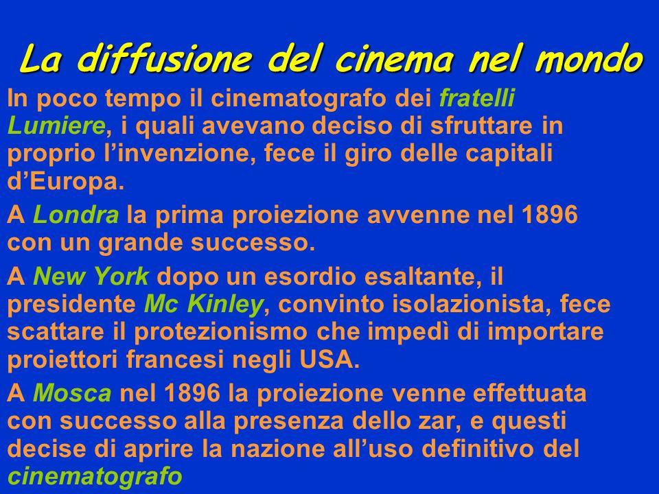 La diffusione del cinema nel mondo