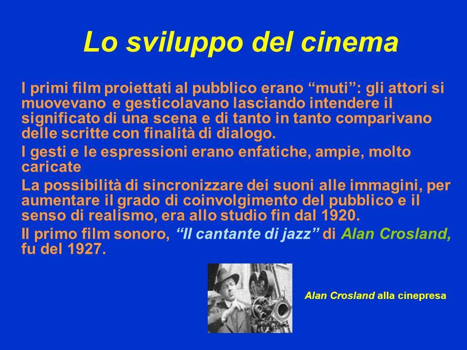 Lo sviluppo del cinema