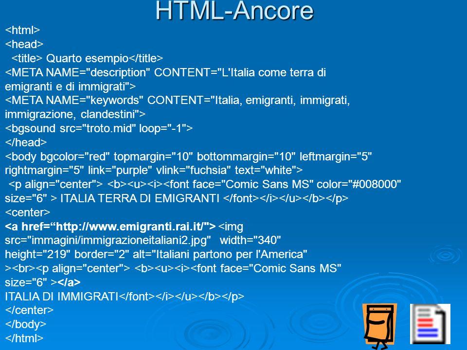 HTML-Ancore <html> <head>