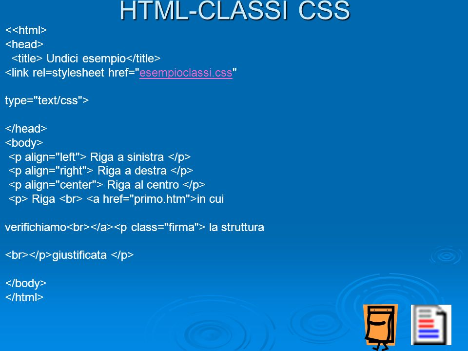 HTML-CLASSI CSS <<html> <head>