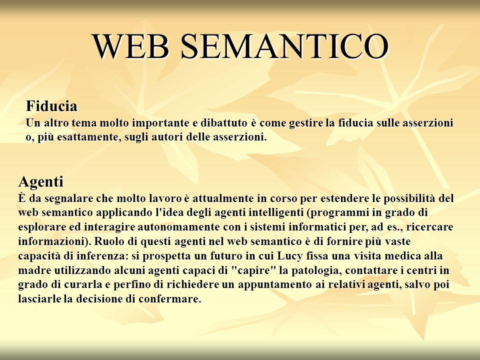 WEB SEMANTICO Fiducia Agenti