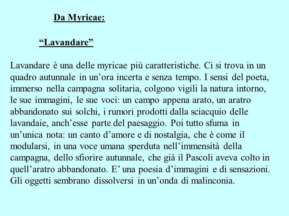 Da Myricae: Lavandare