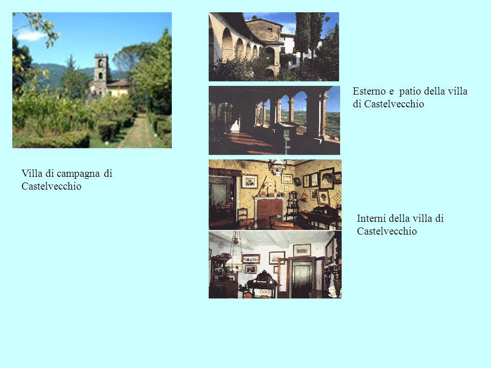Esterno e patio della villa di Castelvecchio