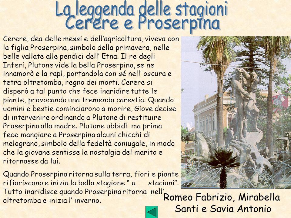 Romeo Fabrizio, Mirabella Santi e Savia Antonio